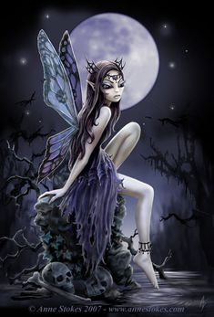 Art by Anne Stokes (Ironshod) Dark Fairy Myth Mythical Mystical Legend Elf Faerie Fae Wings Fantasy Elves Faries Sprite Nymph Pixie Faeries Hadas Enchantment Forest Whimsical Whimsy Mischievous Elfen Tattoo, Elfen Fantasy, Anne Stokes, Fairy Pictures, Love Fairy, Beautiful Fairies, Fairy Art, Magic Fairy, Magical Creatures