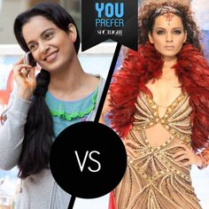 Be it the the naive and simple Rani in Queen The Film or the overtly dramatic Shonali Gujral in #Fashion, #KanganaRanaut aced both roles with perfection.   Which one do you prefer?