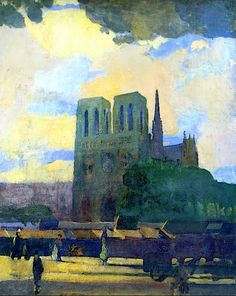 """huariqueje: """" Notre Dame - Arthur B.Carles , c. 1907. American, 1882 – 1952 """""""
