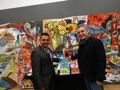 Autor David Alvarado y el presidente de la association Latinoamericana de Montreal el dia del libro en el Centro Cultural Simon Bolivar
