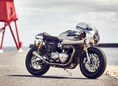 triumph barbour thruxton R motorycle designboom More