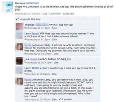 When this teacher totally owned her former student. | 23 Epic Burns That Will Put You In The Burn Unit