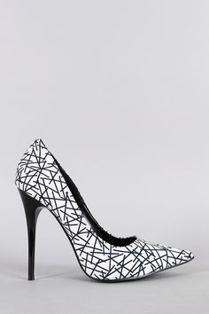 Shoe Republic Geometric Print Pointy Toe Pump
