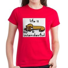 Wiener Tales most popular dachshund design, Life Is Wienderful! This one is ideal for all wiener dog fans, doxie collectors, and everyone who loves unique dog breed gifts!