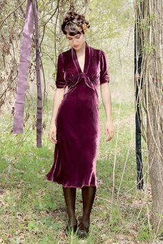 1706d26d61 The Sable Rosewood Velvet dress by Nancy Mac Shop now at www.lux-fix