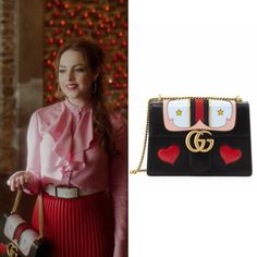 Fallon Carrington wears this Gucci GG Marmont medium web heart shoulder bag on Dynasty Liz Gilles, Emma Roberts Style, Elizabeth Gillies, Character Outfits, Royal Fashion, Costume Design, Pretty Little, Casual, Jade West