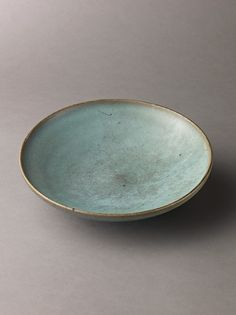 Shallow dish, Jun ware Chinese , Northern Song Dynasty | Date: 11th–12th century | Stoneware with blue glaze | Ceramics