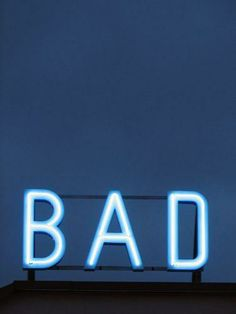 bad blue, neon bad,  Stylelist.ED, stylelistED, Eva Vaughan, typography, type, logo, font, graphic design, minimal, layout.