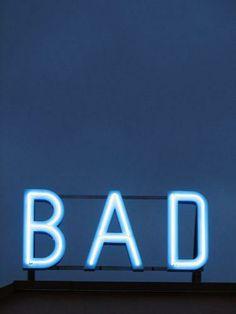 bad blue, neon bad,  Stylelist.ED, stylelistED, Eva Vaughan, typography, type, logo, font, graphic design, minimal, layout.