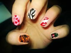 Fun nail art.