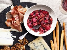 This Rhubarb-and-Currant Mostarda recipe gets its flavor from dried black currants, crystallized ginger, and mustard seeds. Get the recipe from Food & Wine. Currant Recipes, Veal Stew, Asparagus And Mushrooms, Rhubarb Recipes, Rhubarb Dishes, Food & Wine Magazine, Spring Recipes, Charcuterie Board, Wine Recipes