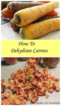 How to dehydrate carrots. It's super easy unless you forget this one important step.