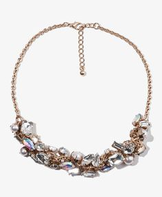 Sparkling Cluster Chain Necklace | FOREVER 21 - 1025102438