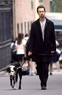 Photo of Edward Norton & his  Dog
