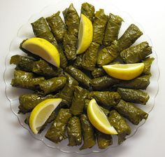Lebanese Grape Leaves. My grandmother made the best stuffed grape leaves, I miss her cooking so much.