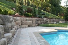 Pittsburgh retaining walls installation by PGHSW uses retaining wall block like Omni Stone and Versa-lok for it's retaining wall construction. Outdoor Spaces, Outdoor Living, Outdoor Decor, Retaining Wall Construction, Landscaping Plants, Landscaping Ideas, Privacy Walls, Wall Installation, Pittsburgh Pa