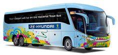 Tu eslogan puede ir en el autobús de la selección española de fútbol en el Mundial de Brasil. Ya está en marcha el programa Be There With Hyundai, en el que cualquiera puede presentar su eslogan favorito para la selección española de fútbol en el Mundial de Brasil 2014. La frase ganadora adornará el autobús que transporte a los futb