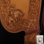 Rick Bean Saddle 2 (detail) Traditional Cowboy Artists of America.