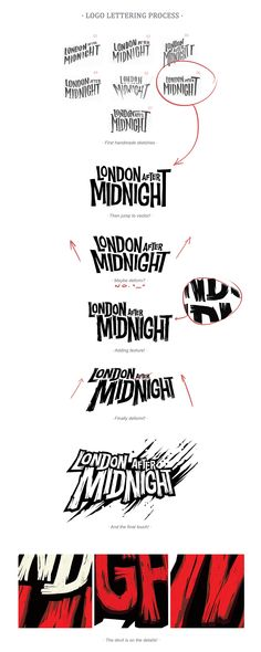 London After Midnight is a card game based on the Hammer Horror Films and his amazing characters. Typography Letters, Typography Design, Hand Lettering, Typography Inspiration, Graphic Design Inspiration, London After Midnight, Logo Branding, Branding Design, Logo Process