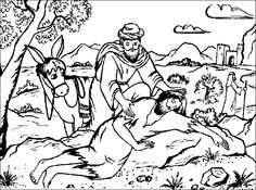 the parable of the good samaritan color page - Good Samaritan Coloring Page