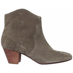 Isabel Marant Olive suede Dicker boots ($448) ❤ liked on Polyvore featuring shoes, boots, grey, bootie boots, short boots, grey suede boots, suede boots and ankle boots