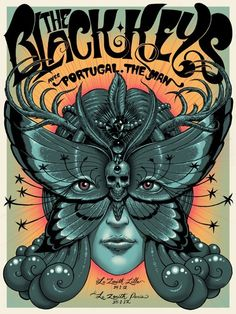The Black Keys poster by Jeff Soto... 2 amazing things=awesome!