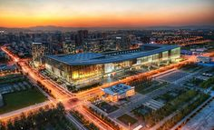 Here is the convention center in Beijing at Dusk. They call it the CNCC. I don't know what that stands for, but I can guess what two of the C's mean.  - Beijing, China  - Photo from #treyratcliff Trey Ratcliff at http://www.StuckInCustoms.com