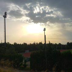 La bruma de momento nos oculta el Sol en este #AmanecerSinSalida desde #UMU