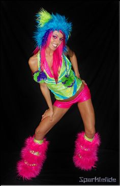 WaCkYy WoRlD Rave Dance Costume by SparkleFide on Etsy, $310.00