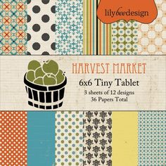 Scrapbooking for Less - Lily Bee Designs Tiny Tablet 6x6 Pad - Harvest Market, $4.00 (http://www.scrapbooking-for-less.com/lily-bee-designs-tiny-tablet-6x6-pad-harvest-market/)