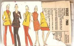 1970s Dress Pattern Wrap Coat Pattern Tunic & by CherryCorners, $8.00