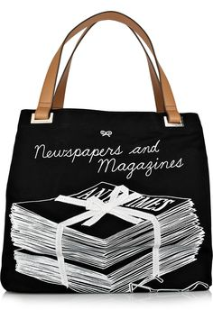 anya hindmarch newspapers & magazines tote. hindmarch just makes my favorite totes of all time!