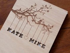 Which one of these guest books do you guys like?    Custom Wedding guest book wood rustic wedding by TotallySalinda, $44.00