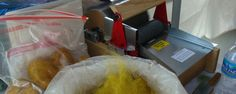 205 series Strauch Drum Carder with fiber bags.