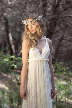 Spitze Brautkleid customized Brautkleider rustikale von mimetik