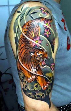 Colofrul Japanese tiger half sleeve