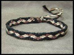 ► Friendship Bracelet Tutorial 8 - Intermediate - Checkerboard Pathway