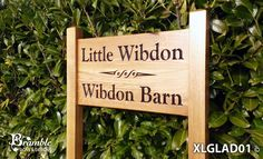 Extra Large Ladder Sign 720 x - Posts 70 x 70 x Entrance Sign, Bramble, Home Signs, Sign Design, Solid Oak, Outdoor Spaces, Ladder, Posts, Lettering