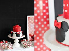 Minnie Mouse birthday party ideas! LOVE the cake! Via www.KarasPartyIdeas.com #Minnie #mouse #birthday #party #ideas #cake