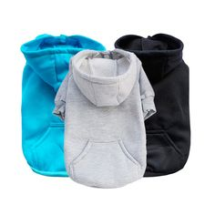 2016 Fashion Blue Black Gray Pet Dog Clothes Sweatshirt Hoodie For Winter Warm Cute Coat Puppy S,M,L,XL