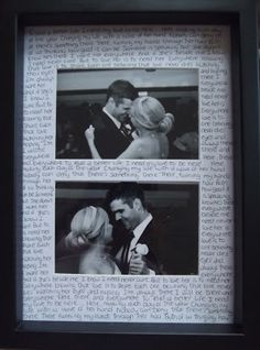 first dance lyrics photoframe