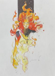 Phoenix by Eliza Ivanova Comic Book Characters, Marvel Characters, Comic Books Art, Comic Art, Book Art, Marvel Comics Art, Marvel Heroes, Ms Marvel, Captain Marvel
