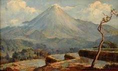 Basoeki Abdullah - Pemandangan Gunung