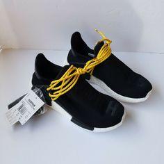 Details about Adidas NMD HU Pharrell Williams Human Race Yellow Tennis GOLF  RUN Sneaker BB0619 9ffd095f9