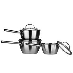 Tenzo C Series Cookware Set, Stainless Steel/Encapsulated Base, Glass Year Guarantee Joe Wicks, Wholesale Furniture, Cookware Set, Kitchen Accessories, Kitchenware, Stainless Steel, 3 Piece, Base, Free Delivery
