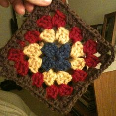 Love the colors of this granny square.