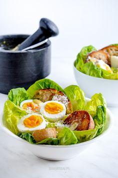 Caesar salad Caesar Salad, Fresh Rolls, Salads, Ethnic Recipes, Food, Essen, Meals, Yemek, Salad