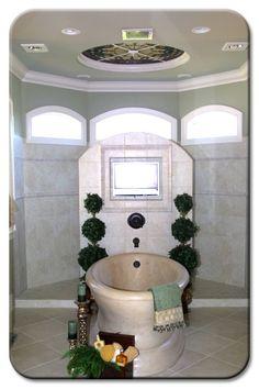 Walk Through Shower Master Bathroom Bathroom Remodeling, Bathroom Ideas, Walk Through Shower, Stand Alone Tub, Jack And Jill, Vanities, Old Houses, Master Bathroom, My House