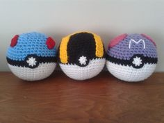 Great, ultra, and master pokeball - free crochet patterns at Stitch - em.