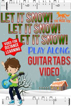 This simple and beautiful arrangement of Let It Snow! sounds great on guitar, and the TABS include stick/rhythm notation for accuracy and popper development of guitar technique. The backing track sounds great and is perferct for distance learning, and can even be used for virtual performances. Great for beginners and intermediate guitarists at the elementary, middle school, and high school level. Created by The Music Fox.